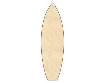 Surf Board - Unfinished Wood - 160537