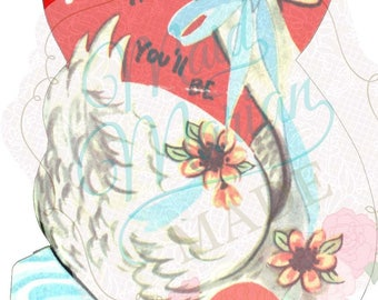 Digital Download ~ Swanderful Vintage Valentine
