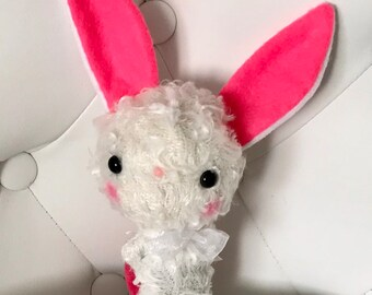 FREE US SHIPPING Cute Bunny Rabbit Plush Stuffed Animal Plushie Softie Teddy Bear Kawaii Gift
