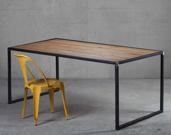 KITCHEN TABLE solid wood industrial design