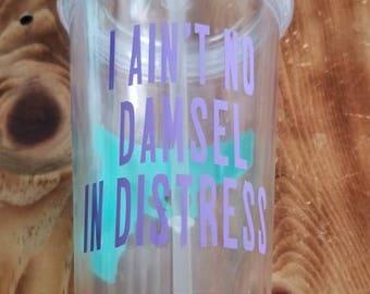Damsel in distress tumbler