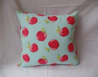 """Clearance Modern 16"""" blue red apple cushion cover, scatter cushion, pillow case, pillow sham"""