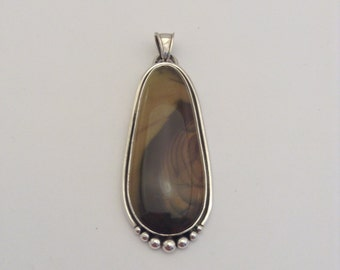 sterling silver pendant with picture jasper
