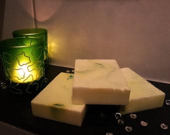 "Shea butter Duftseife ""lemon""/gift idea/gift for you/wellness/handmade soap/marbled soap"