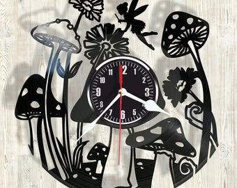 Tinker Bel vinyl record wall clock best eco-friendly gift for any occasion
