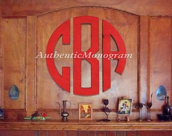 "Wooden Monogram - Large 36"" CIRCLE Monogram - PAINTED Circle Monogram - Home Decor - Wedding Guest book - Wedding Gift"
