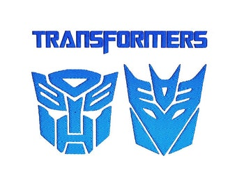 Set of 3 Transformers Embroidery Designs Instant Download