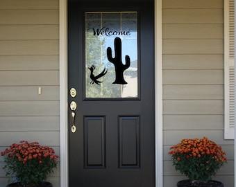 Welcome Decal for Door - Welcome Door Decal - Front Door Decal - Desert Welcome - Front Door Vinyl Welcome Sign - Vinyl Welcome Decal