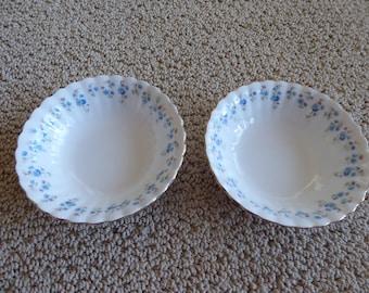 """Vintage Royal Albert Bone China MEMORY LANE Fruit Dishes 5 1/2""""  Circa 1970's"""
