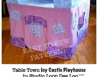 PATTERN for Icy Castle, Card Table Playhouse