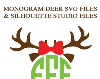 Monogram Deer Files for Cutting Machines | SVG and Silhouette Studio