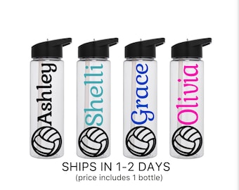 Volleyball Team Gifts Volleyball Team Water Bottles Volleyball Water Bottles Volleyball Gifts Team Gifts Sport Water Bottles - personalized