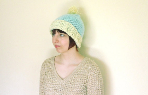 Chunky Knit Hat Pattern Pom Pom Hat Knitting Pattern Quick And