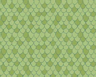 Scales Fabric in Green, Heather Rosas for Camelot, Lime Green, Fat Quarter or yardage, Under the Sea