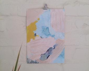 A4 Painterly pastel Art Print / Wall art