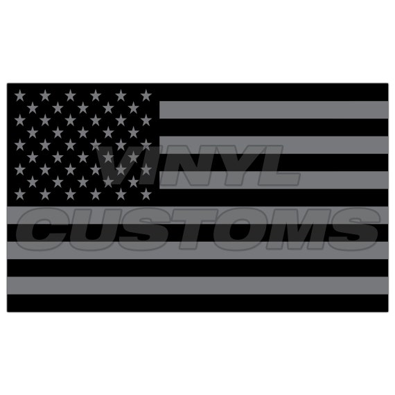 American flag tactical subdued vinyl decal sticker v2