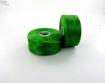 1 spool of thread CLON - color: green - C LON (Nymo) size D X88A