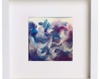 Original acrylic abstract painting  mini painting
