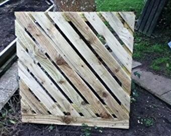Wooden Stripped Garden Gate