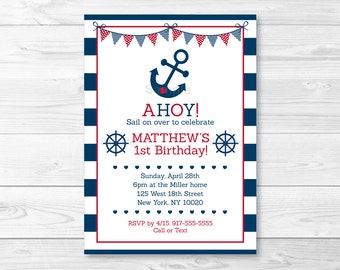 Nautical birthday Etsy