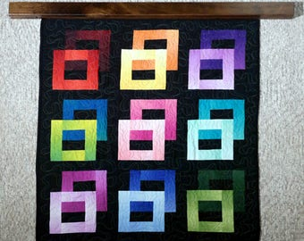"""Quilt wall hanger / 61""""-66"""" The modern knob-less for quilts, rug, or textiles"""