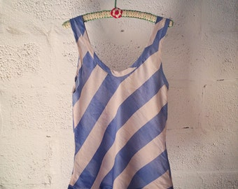 striped silk tank