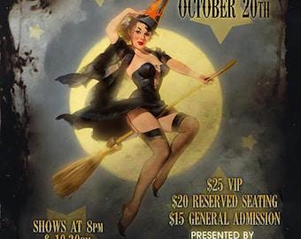 Fleur de Tease Halloween Revue 11x7 Poster