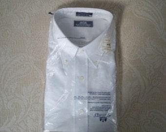 Vintage Clothing Men's Dress Shirt Long Sleeve Button Down Collar Preppy Shirt Big / Tall