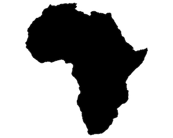 Africa vector - Digital Download File - Dxf Dwg Svg  - suitable for Silhouette