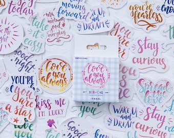 Cute Quotes Sticker collection of 45 scrap booking stationery supply