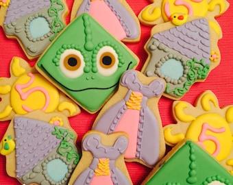 Tangled Cookies, Tangled Birthday, Princess Favors, Princess Birthday, Princess Cookies