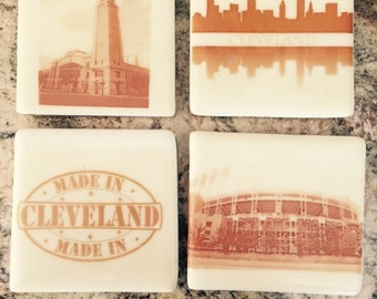 Cleveland Glass Coasters