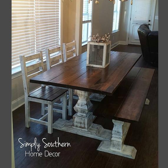 Renaissance Trestle Base Farmhouse Table 8 Wide