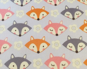 FQ  Fox Print Fabric  100% Cotton  Fat  Quarter