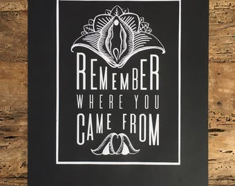 Remember Where You Came From Print