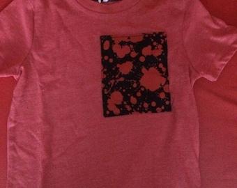 Dexter style blood splatter patch t-shirt