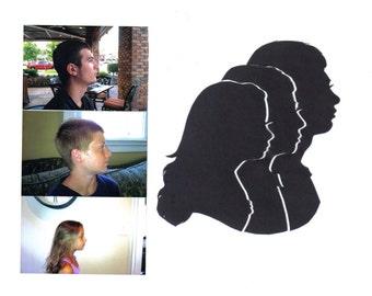Triple Silhouette Portrait Small 5x7