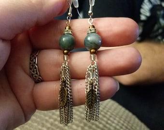 Jade Dangle Earrings