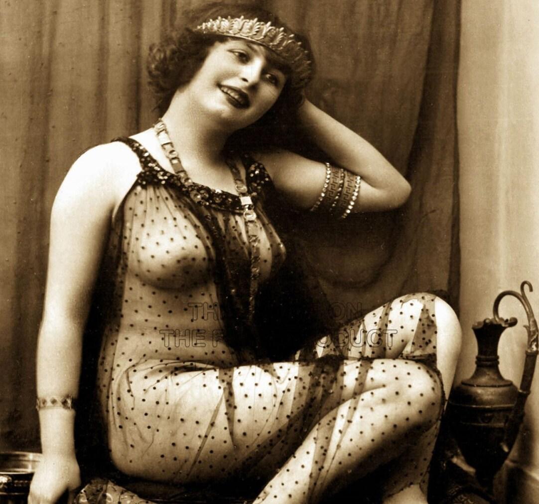 victorian risqué nude erotic vintage sepia art print risque