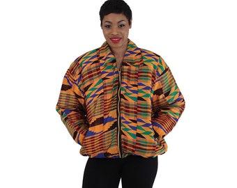 Africa  African-Made Kente Jacket w/Elastic