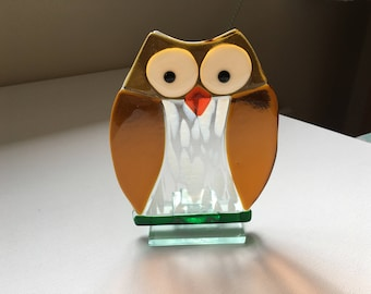 Fused Glass Owl