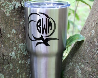 Stainless Steel - Tumbler - Personalized - Monogrammed - 30 oz. -  Double Wall -  Insulated - RTIC Tumbler - Father's Day - Dad