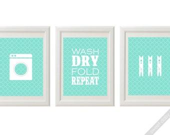 Laundry Room Wall Art Set of 3, 5x7, Cute Laundry Room Art, Laundry Room Art, Laundry Room Wall Art Customizable, Custom Wall Art Laundry