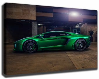 Perfect LAMBORGHINI AVENTADOR Canvas/Poster Wall Art Pin Up HD Gallery Wrap Room  Decor Home Decor