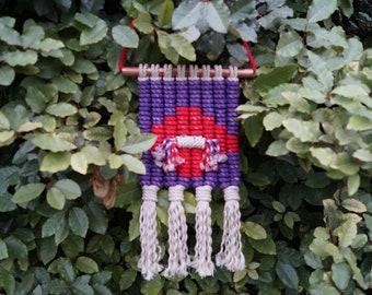 Southwestern Purple & Red Macrame Wall Hanging