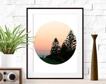 Beach print, Sunset print, Summer printable art, Forest art, Sunset art, Sunset photo, art of sunshine, Art beach, Seascape art