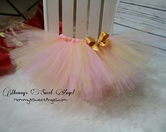 Pink and gold tutu. Baby girl tutu. Cake smash tutu. Birthday tutu. Pick your colors!!!
