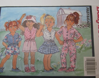 Butterick Pattern 6606 Vintage 1993 Busybodies UNCUT size 2-3-4 childrens top, skirt, shorts and pants