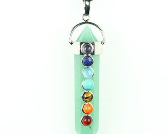 Aventurine Reiki Chakra Healing Crystal Necklace