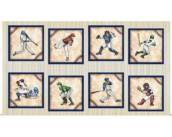 "24"" x 44"" Grand Slam Cream Baseball Player Picture Patches 24906E by the panel"